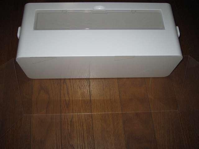 イノマタ化学 テーブルタップボックス L ホワイト 本体保護透明プラスチックカバー取り外し