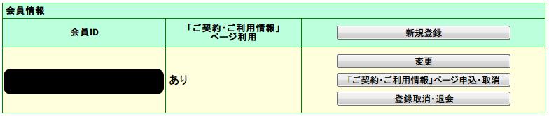 フレッツ光メンバーズクラブ会員登録 サービス情報サイト NGN IPv4 トップページからフレッツ光メンバーズクラブ「ご登録・変更」ボタンをクリックして会員IDの有無をチェック