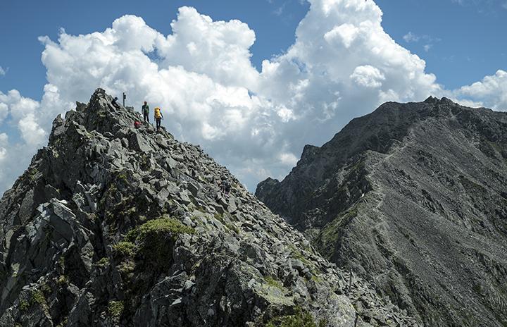 150802 涸沢岳山頂と奥穂