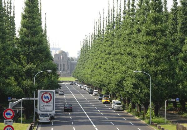 神宮外苑前の銀杏並木通り