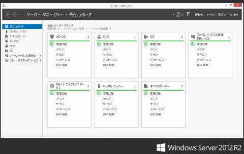 Windows Server 2012 R2画面