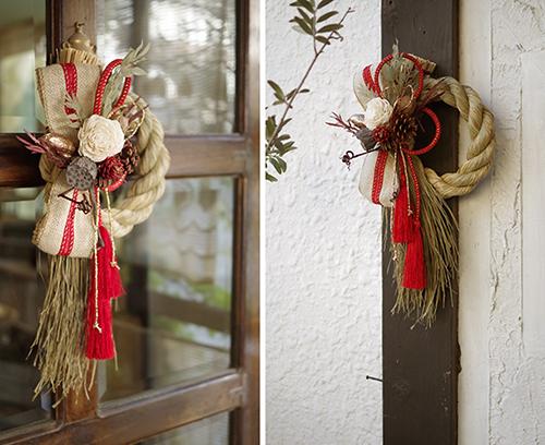 木の実とスパイスのしめ縄飾り