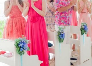 ドレスコード_ピンク_沖縄結婚式