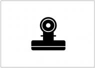 目玉クリップのフリー素材テンプレート・図形・イラスト