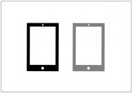 タブレットPC端末のフリー素材テンプレート・図形・イラスト