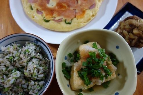 菜飯、ギョニソホット、揚げ焼き豆腐、栗