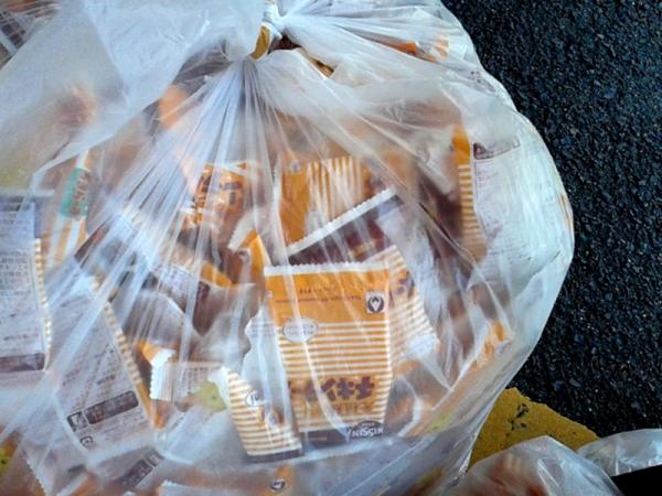 チキンラーメンの袋
