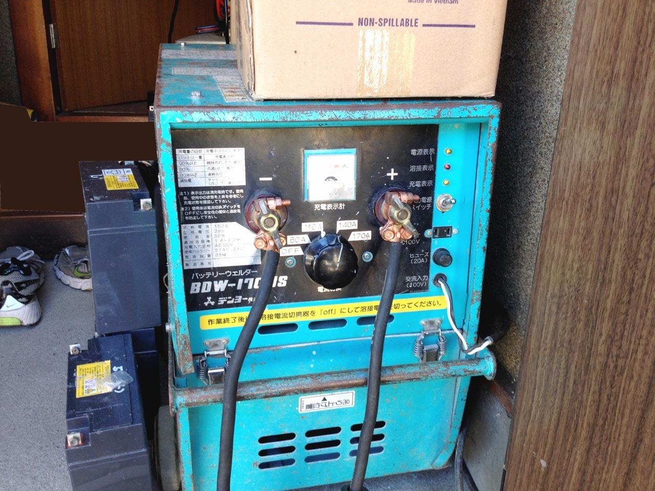 先日残りのバッテリーが交換された編集部の溶接機BDW-170MS