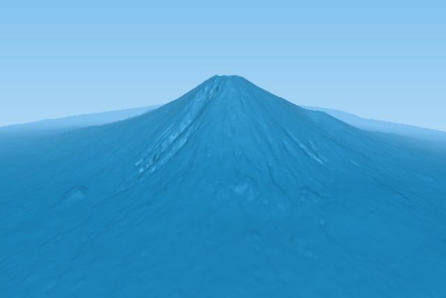 Tree.jsで眺める山の風景:富士山