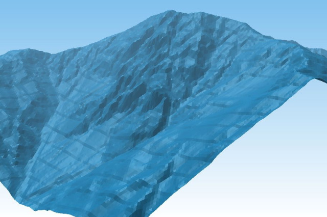 Tree.jsで眺める山の風景:北岳バットレス