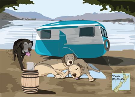 羊の国のラブラドール絵日記シニア!!「CとY」カレンダー3月