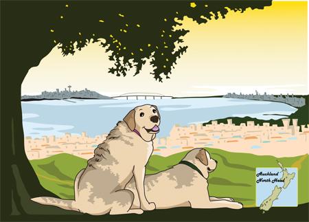 羊の国のラブラドール絵日記シニア!!「うれしかった言葉」カレンダー1