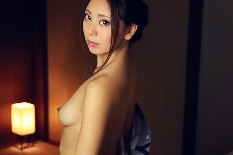 仁美まどか 淑やか浴衣のセックス画像