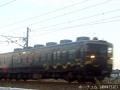 天候が悪い中での電車の撮影