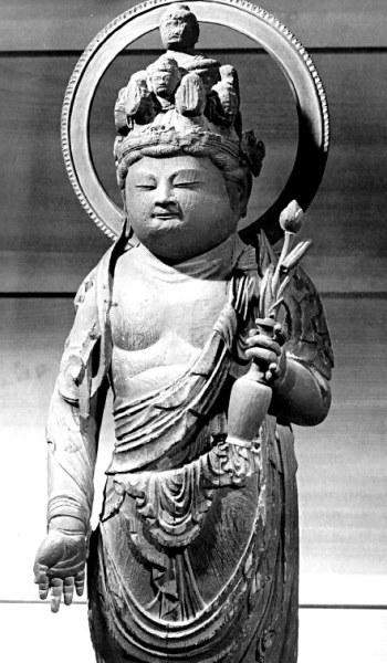 羽曳野市・長円寺~十一面観音立像(重文・平安前期)