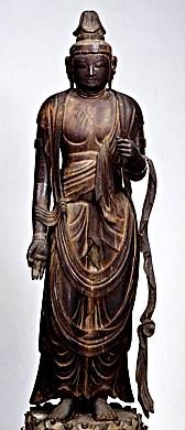 九州国立博物館蔵・観音菩薩立像(重文・平安前期)