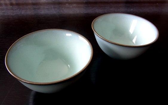 福島善三作・中野月白磁~汲出し茶碗