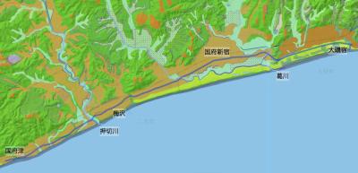 旧東海道:大磯宿高札場→国府津