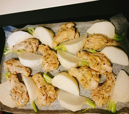 鶏手羽元と蕪のオーブン焼き6