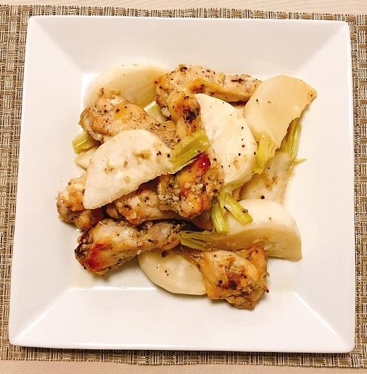 鶏手羽元と蕪のオーブン焼き7