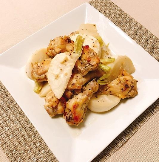 鶏手羽元と蕪のオーブン焼き8