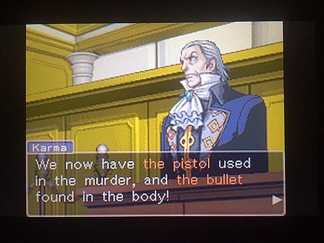 逆転裁判 北米版 拳銃と弾丸に繋がりは?2