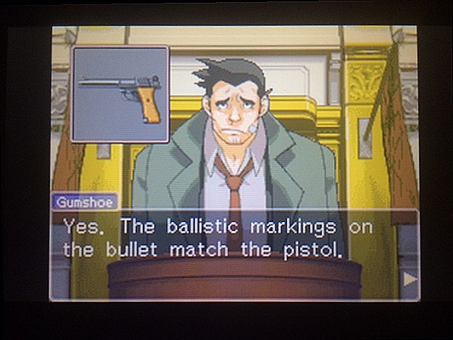 逆転裁判 北米版 拳銃と弾丸に繋がりは?6