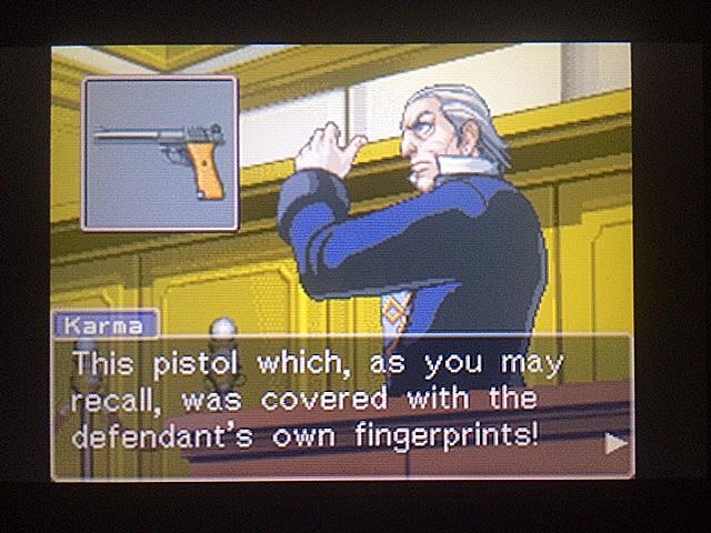 逆転裁判 北米版 拳銃と弾丸に繋がりは?23