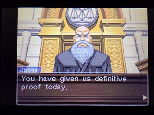 逆転裁判 北米版 左手の写真右手の指紋4