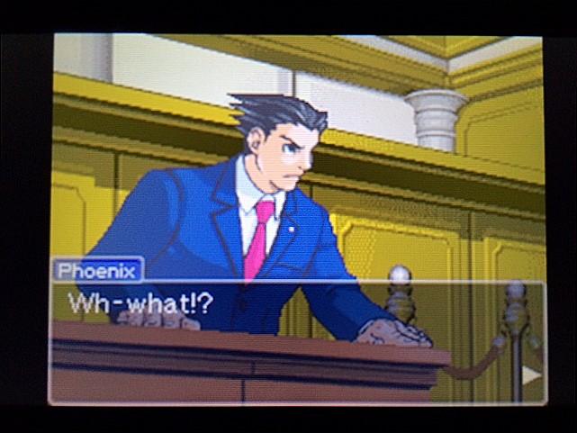 逆転裁判 北米版 左手の写真右手の指紋18