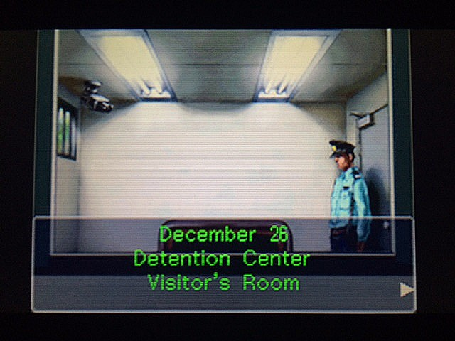 逆転裁判 北米版 留置所のマヤ、保釈1