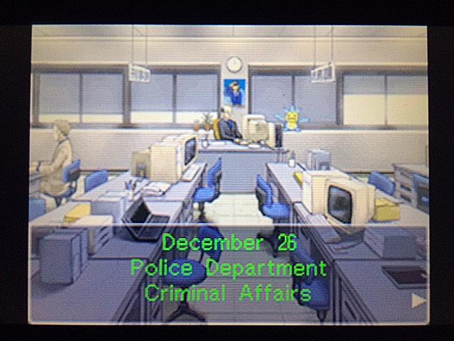 逆転裁判 北米版 警察署のガムシュー刑事と相談1
