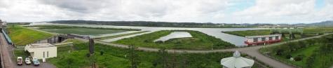 信濃川 大河津分水のパノラマ