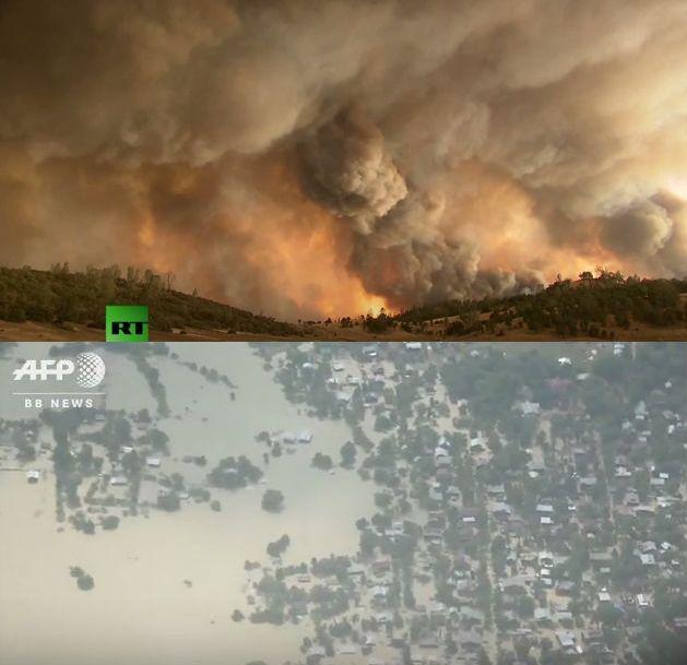 カリフォルニア各地で大規模な山火事により非常事態宣言、中国では記録的な大雨、ミャンマーでは大洪水…世界各地で異常気象か