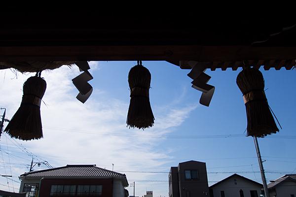 町屋川八幡社注連縄と紙垂