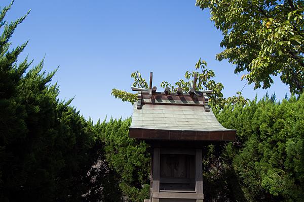 大高竜宮社屋根と空