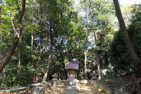 下村神明社全景