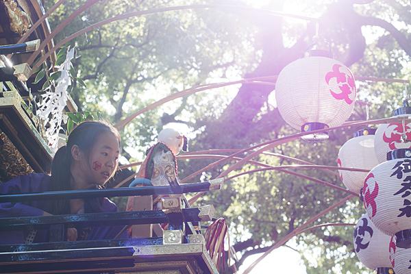 星宮社本地祭り山車の上の少女とからくり