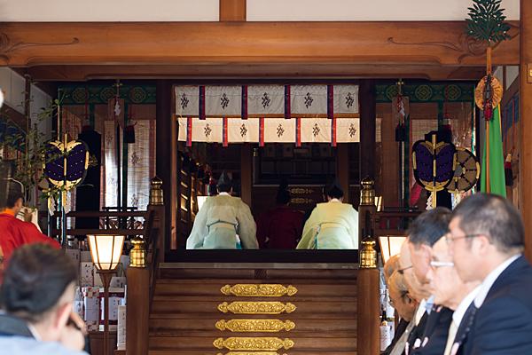 成海神社例大祭は拝殿から本殿