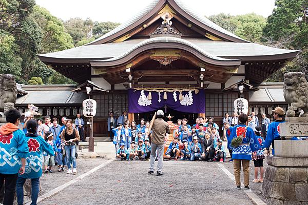 成海神社例大祭子供会記念撮影