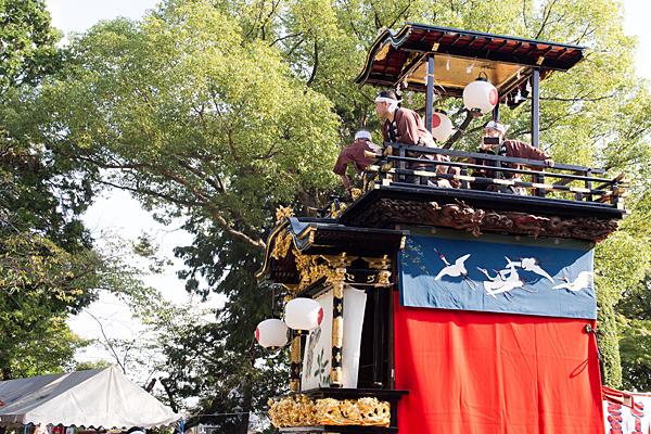 成海神社例大祭の風景山車