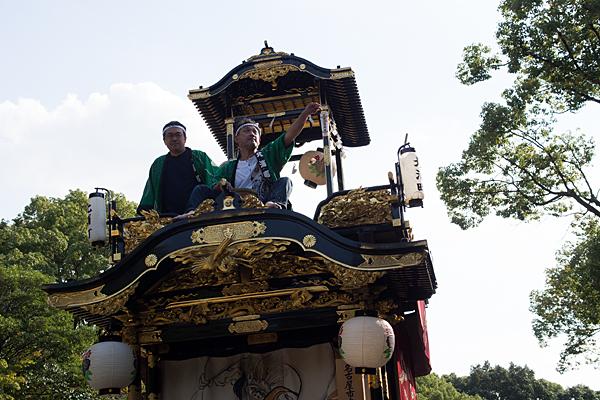 成海神社例大祭山車の上