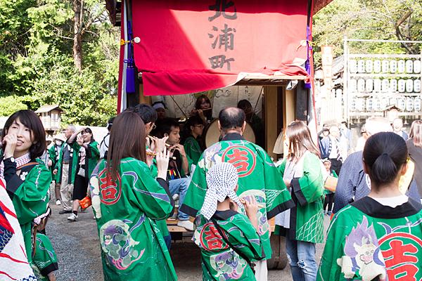 成海神社例大祭笛と太鼓