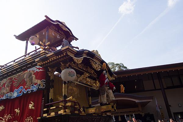 成海神社例大祭山車のからくり人形