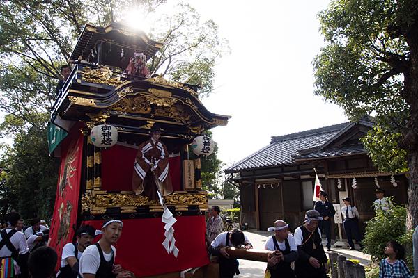 成海神社例大祭山車引きの人たち