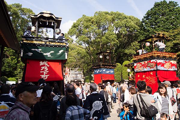 成海神社例大祭山車揃え