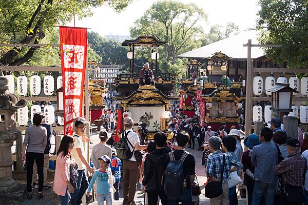 成海神社例大祭山車揃え上から