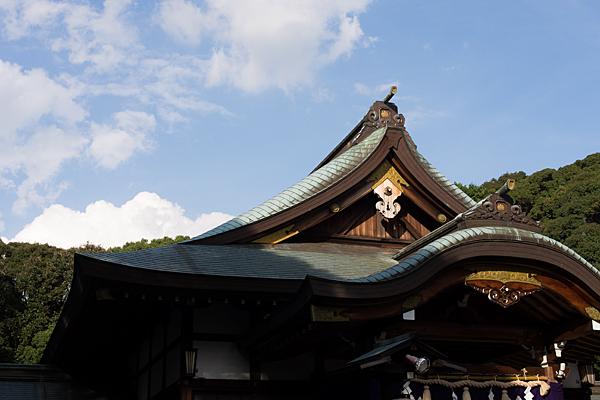 成海神社拝殿屋根