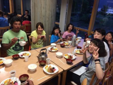 青年の家夕食1