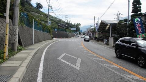 県道34号を東京方面へ走ります。この辺はぶどう園銀座でした。